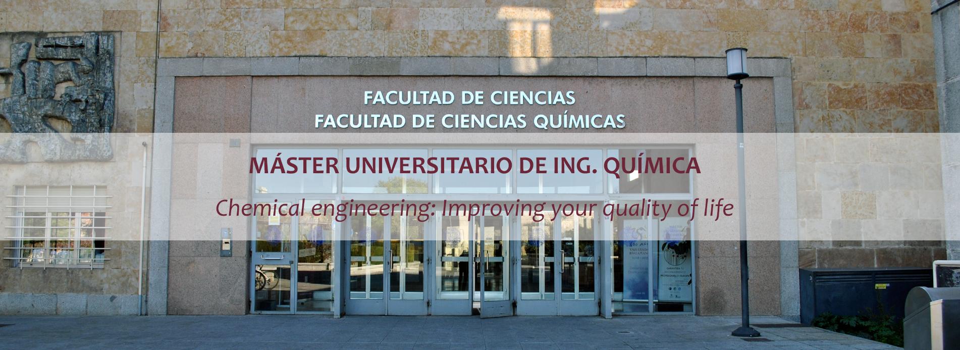 Máster Universitario en Ing. Química – USAL